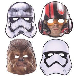Set of 7 Star Wars The Force Awakens Paper Masks